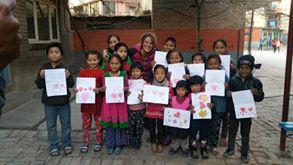 Visite aux enfants à Kathmandou