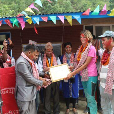 Inauguration de la nouvelle école dans le district de Rasuwa