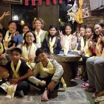 Sortie avec les enfants à Pokhara