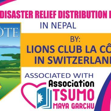 Distribution d'aide grâce au Lions Club La Côte